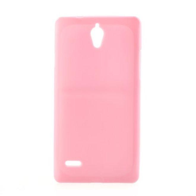 Huawei Ascend G700 Elastisches Plastik Case - pink