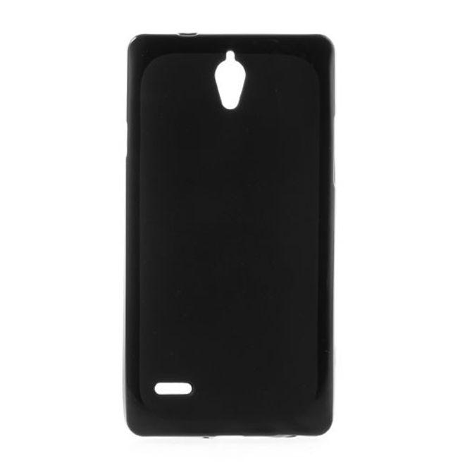 Huawei Ascend G700 Elastisches Plastik Case - schwarz