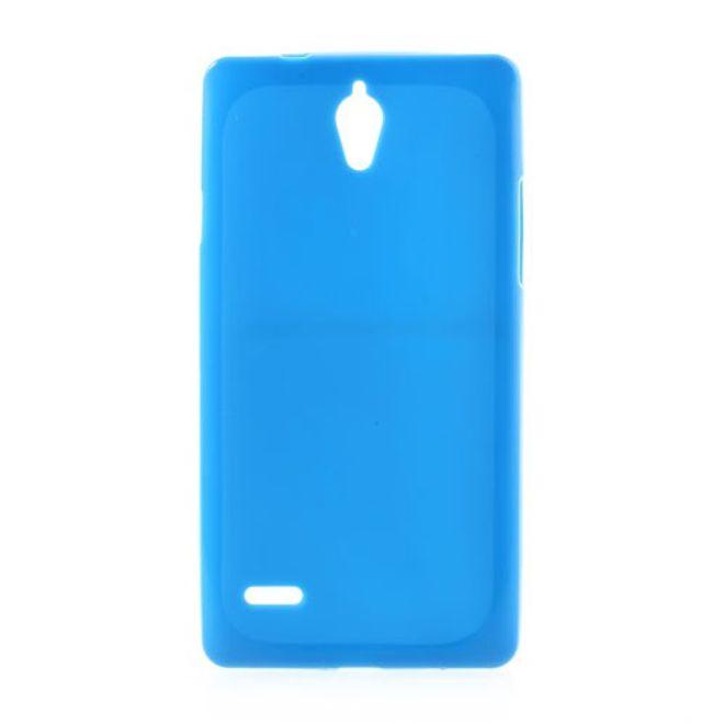 Huawei Ascend G700 Elastisches Plastik Case - blau