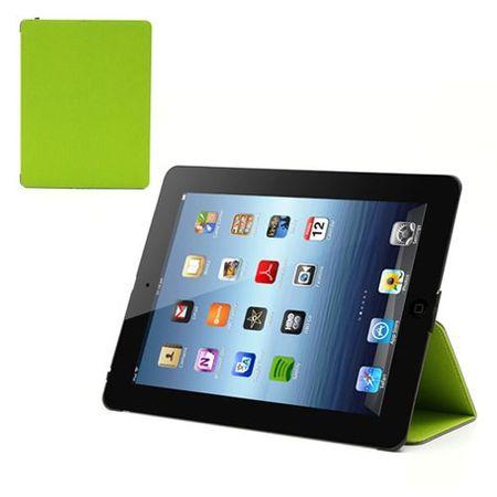 iPad 2/3/4 Gemasertes Leder Smart Case mit Wake/Sleep Funktion - grün