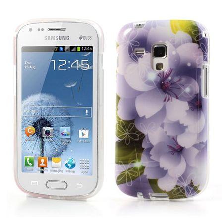 Samsung Galaxy S Duos Elastisches Plastik Case purpurne Blume
