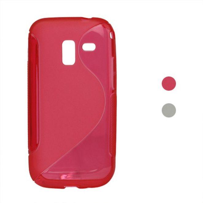 MU Classic Samsung Galaxy Ace 2 Elastisches Plastik Case S-Line - rot