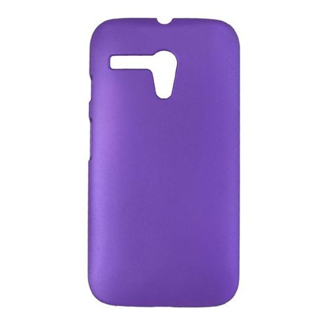Motorola Moto G Gummiertes Hart Plastik Case - purpur