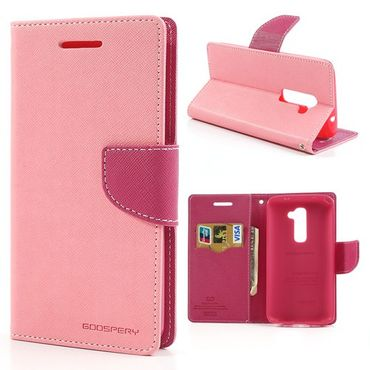 LG Optimus G2 Modisches Leder Case mit Standfunktion - rosa/pink