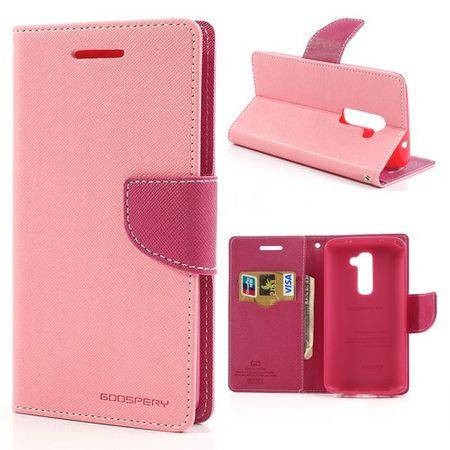 LG Optimus G2 Modisches Leder Case mit Standfunktion - rosa/pink