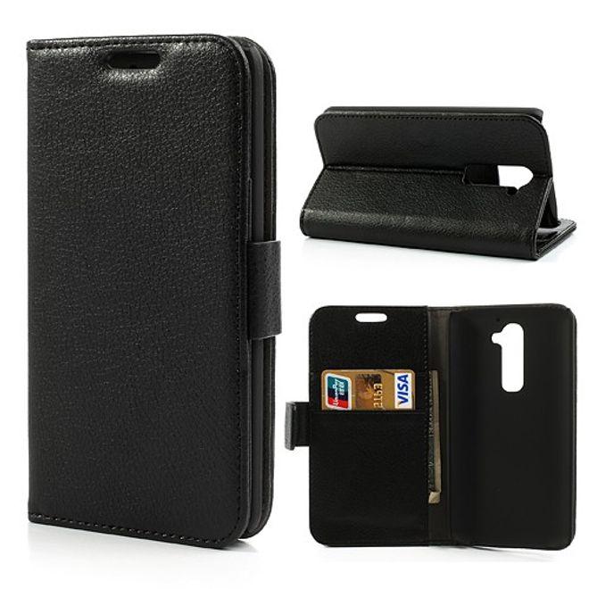 LG Optimus G2 Leder Case mit Litchimusterung - schwarz