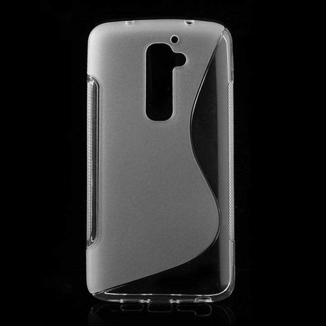 LG Optimus G2 Elastisches Plastik Case S-Curve - transparent