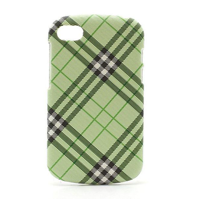 BlackBerry Q10 Gummiertes Hart Plastik Case - grün