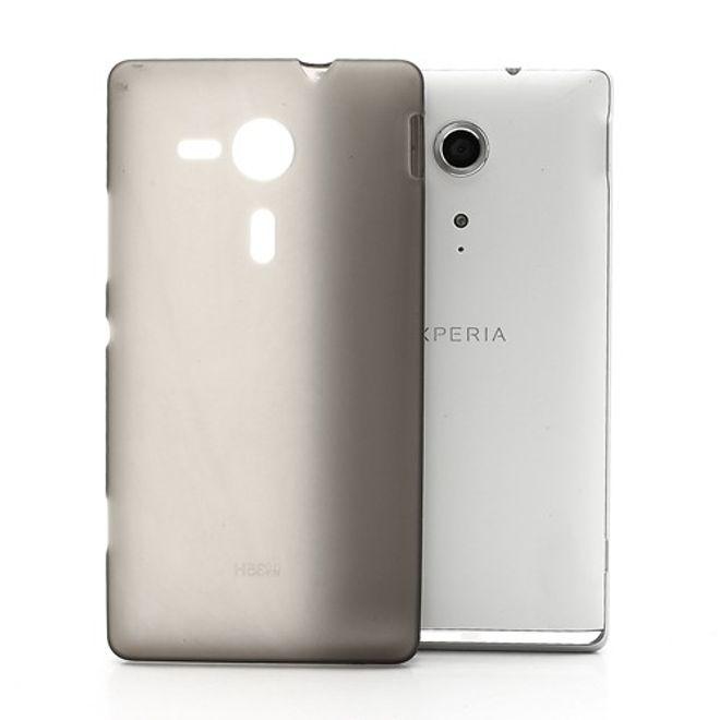 Sony Xperia SP Elastisches, mattes Plastik Case - grau