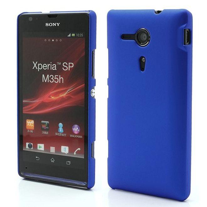 Sony Xperia SP Gummiertes Plastik Case - dunkelblau