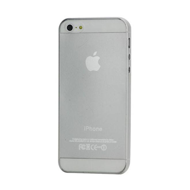 iPhone SE/5S/5 Superdünnes, glänzendes Hart Plastik Case - transparent