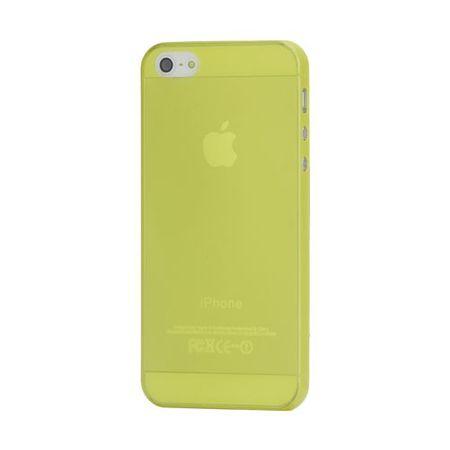 iPhone SE/5S/5 Superdünnes, glänzendes Hart Plastik Case - gelb