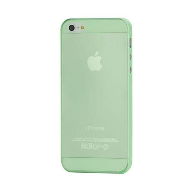 iPhone SE/5S/5 Superdünnes, glänzendes Hart Plastik Case - grün