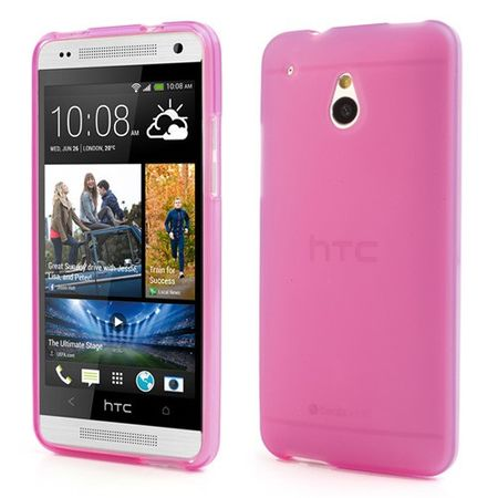 HTC One Mini Doppelseitiges Plastik Case - rosa