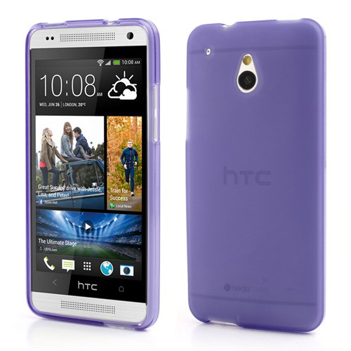 HTC One Mini Doppelseitiges Plastik Case - purpur