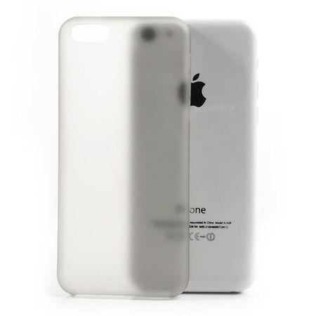 iPhone 5C Ultradünnes Hart Plastik Case - grau