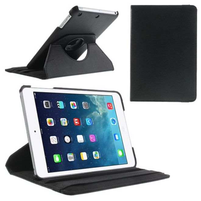 iPad Mini 1/2/3 Smart Leder Case 360° rotierbar mit Standfunktion - schwarz