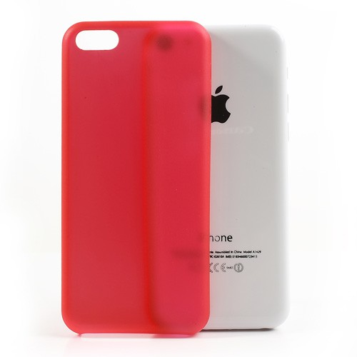 iPhone 5C Ultradünnes Hart Plastik Case - rot