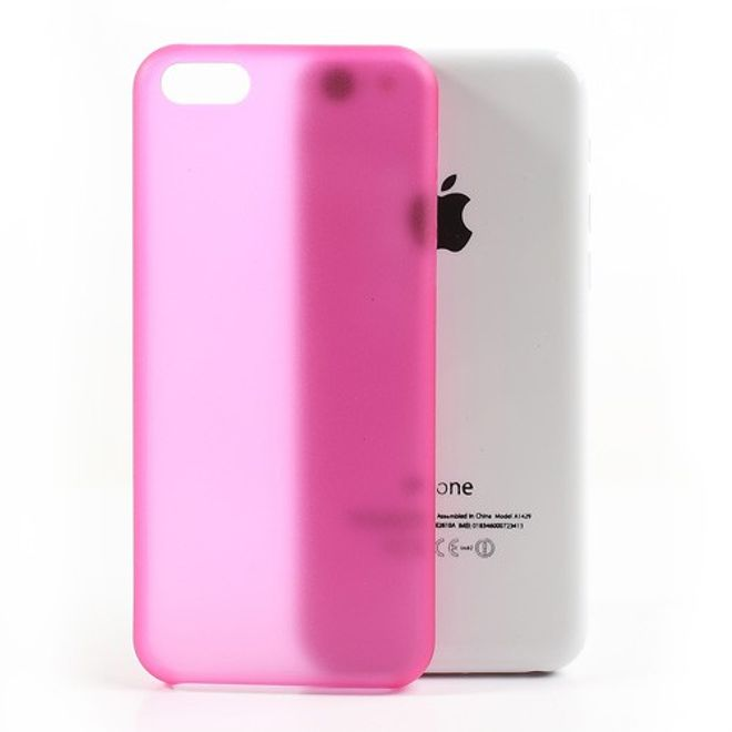 iPhone 5C Ultradünnes Hart Plastik Case - rosa
