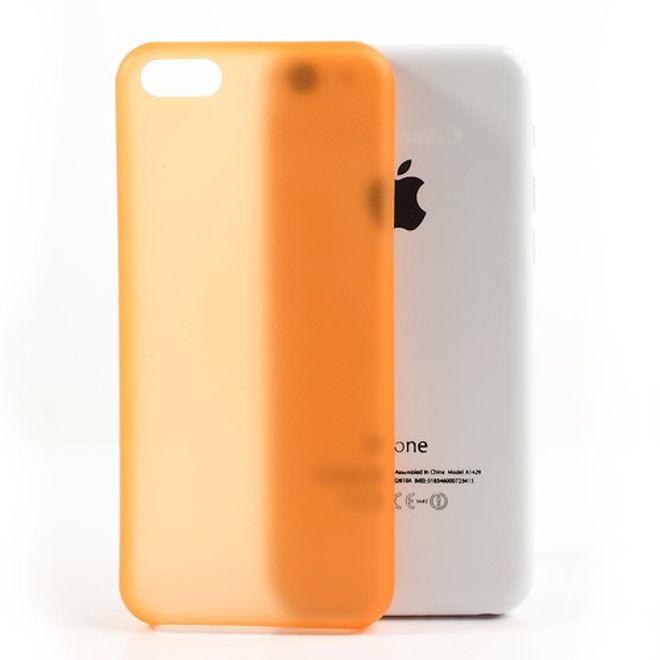 MU Classic iPhone 5C Ultradünnes Hart Plastik Case - orange