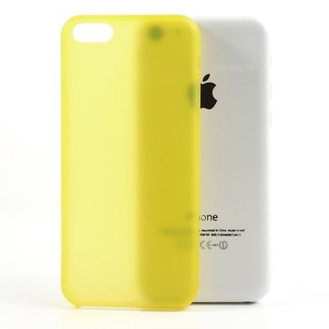iPhone 5C Ultradünnes Hart Plastik Case - gelb