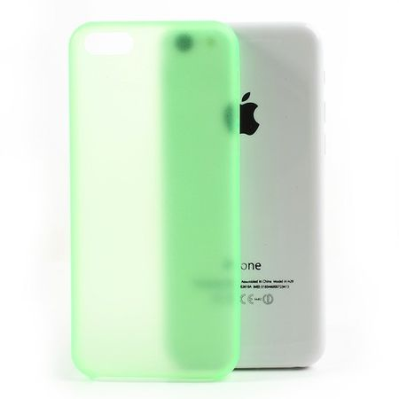 iPhone 5C Ultradünnes Hart Plastik Case - grün