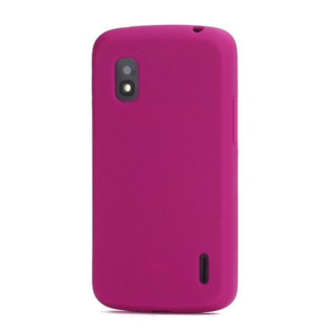 LG Google Nexus 4 Flexibles Silikon Case - rosa