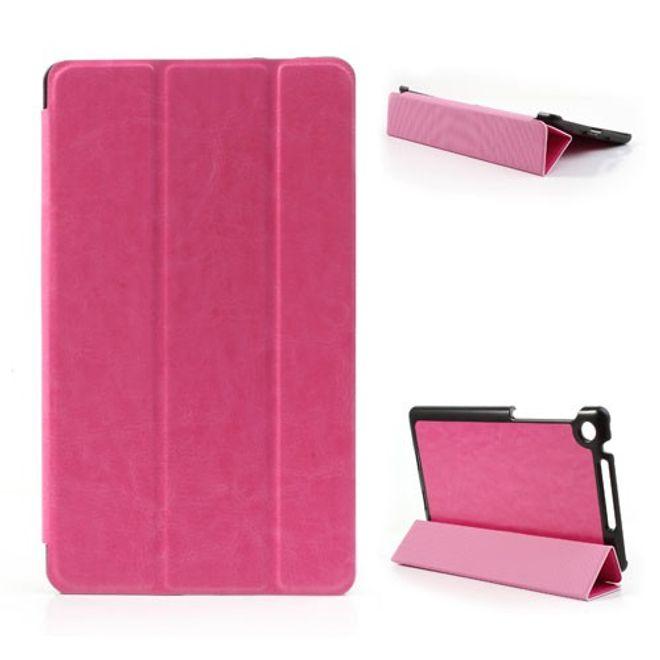Asus Google Nexus 7 (2013 Version) Faltbares, modisches Leder Case - rosa