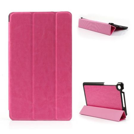 Asus Google Nexus 7 (2013 Version) Faltbares, modisches Leder Case - rosa