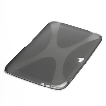 Samsung Google Nexus 10 Elastisches Plastik Case X-Shape - transparent