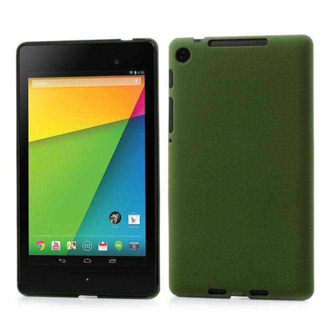 Asus Google Nexus 7 (2013 Version) Hart Plastik Case mit Sandtextur - grün