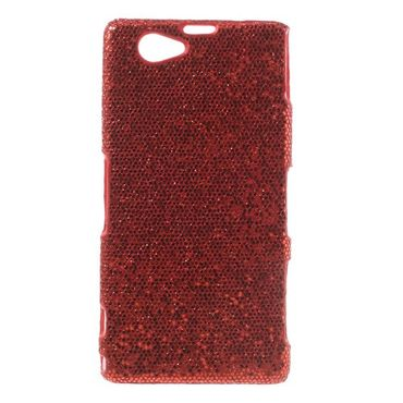 Sony Xperia Z1 Compact Glitzerndes Hart Plastik Cover - rot