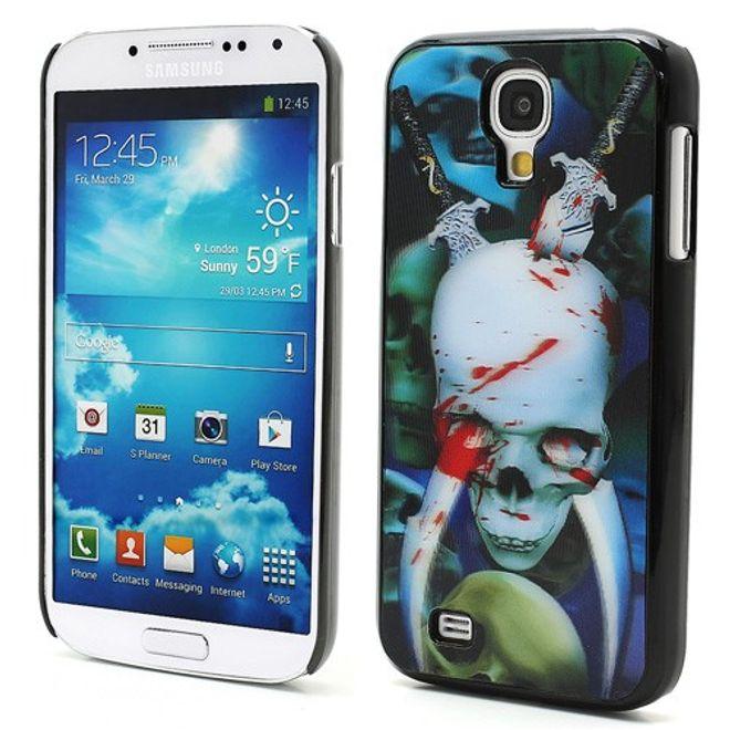 Samsung Galaxy S4 Hart Plastik Case mit 3D blutender Totenkopf