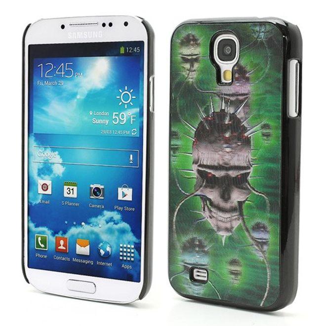MU Style Samsung Galaxy S4 Hart Plastik Case mit 3D grusliger Totenkopf