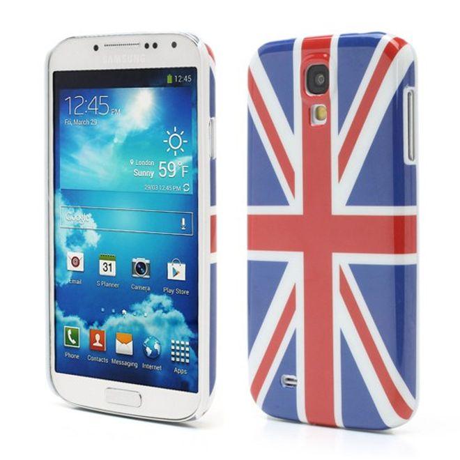 MU Style Samsung Galaxy S4 Hart Plastik Case mit Grossbritannien/UK Flagge