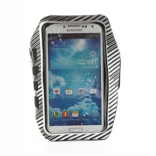 MU Classic Sport Armband Case fürs Samsung Galaxy S4 - weiss