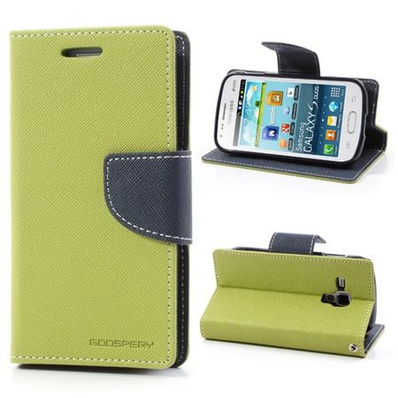 Goospery - Samsung Galaxy S Duos Hülle - Handy Bookcover - Fancy Diary Series - lime/navy