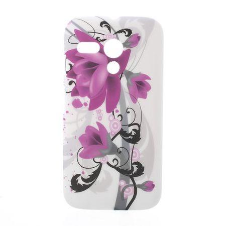 Motorola Moto G Hart Plastik Case mit Lotus Blumen