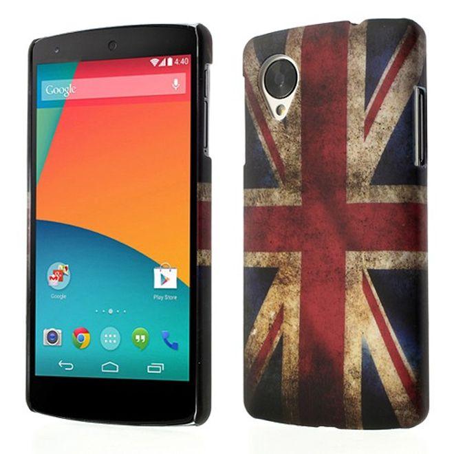 MU Style LG Google Nexus 5 Hart Plastik Case UK Grossbritannien Flagge