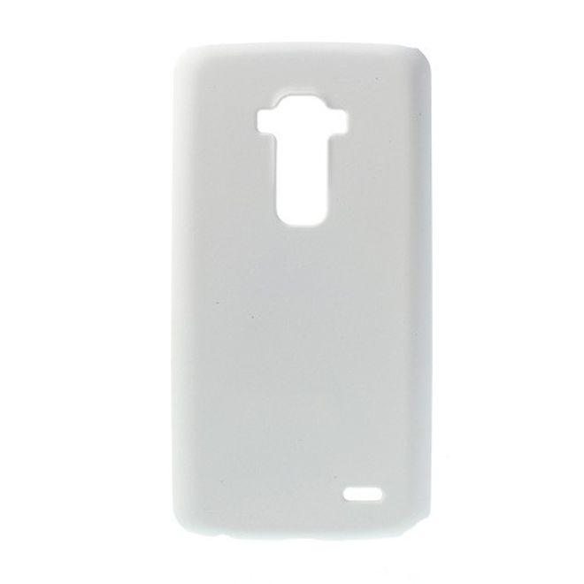 LG G Flex Gummiertes Plastik Case - weiss