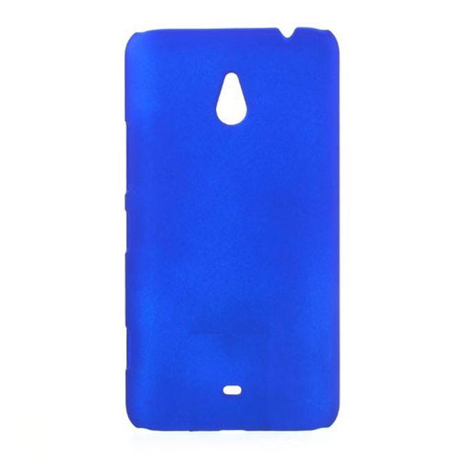 MU Classic Nokia Lumia 1320 Gummiertes Hart Plastik Case - dunkelblau