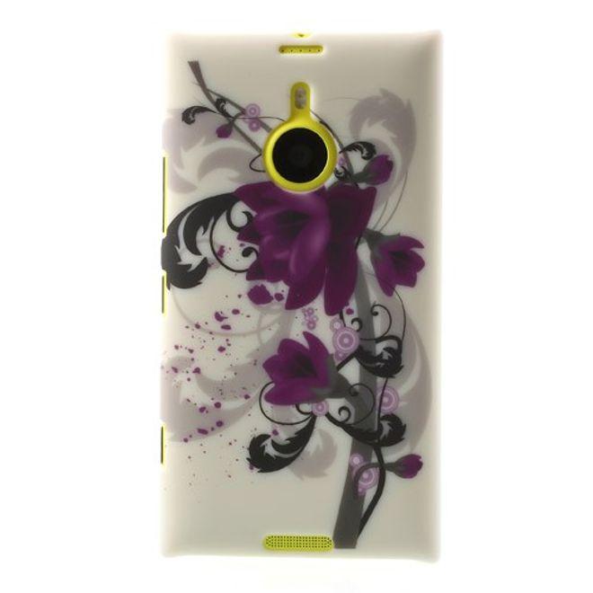 Nokia Lumia 1520 Hart Plastik Case mit Lotus Blumen