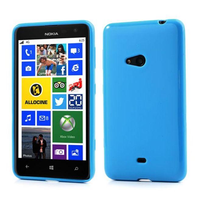 Nokia Lumia 625 Elastisches, schlichtes Plastik Case - blau