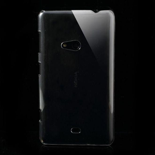 Nokia Lumia 625 Klares, schlichtes Hart Plastik Case - transparent