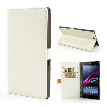 Sony Xperia Z Ultra Crazy Horse Leder Case - weiss