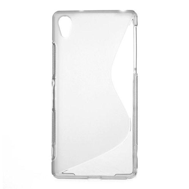 Sony Xperia Z2 Elastisches Plastik Case S-Curve - grau