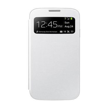 Samsung Galaxy S4 Leder Flip Case S-View mit Backcover - weiss