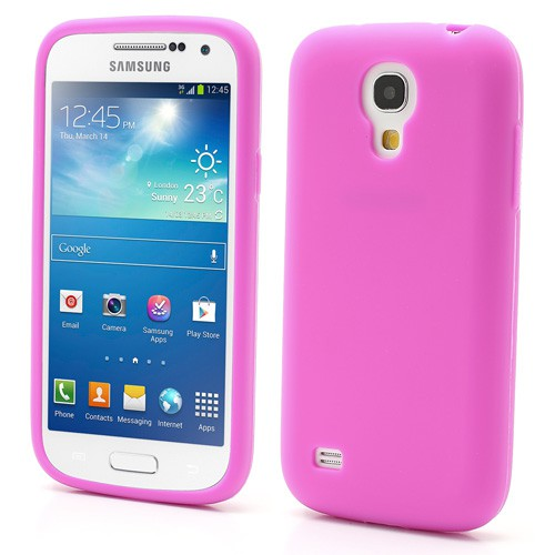 Samsung Galaxy S4 Mini Flexibles Silikon Case - rosa