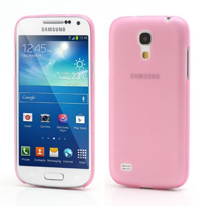 Samsung Galaxy S4 Mini Ultradünnes, mattes Hart Plastik Case - pink