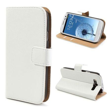 Samsung Galaxy S3 Echtleder Case - weiss